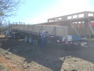 House Roof Trusses on Delivery Truck