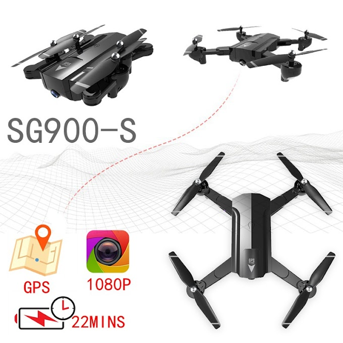GPS Drones With Camera Hd 1080p Camera Drone Rc Fpv Quadcopter Automatic Follow Flying Helicopter Sg900 Sg900s Selfie Dron