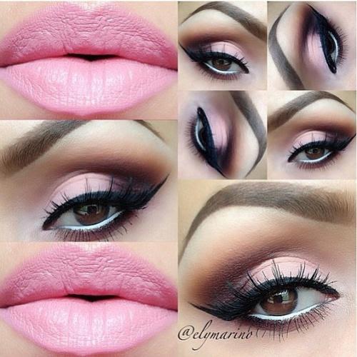 Makeup eyeshadow pink