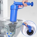 Pressure Pump Cleaner Unclogs Toilet Hand Powered Plunger Set