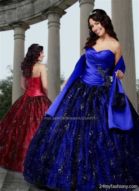 black and royal blue quinceanera dresses 2016 2017   B2B