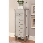 Coaster Fine Furniture Jewelry Armoire, Antique Silver