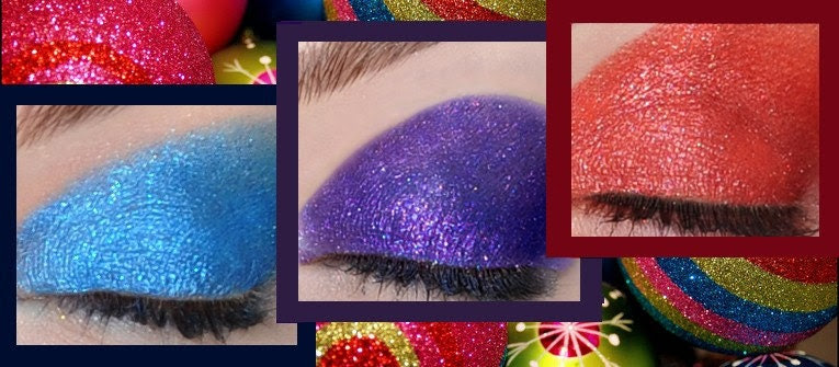 HOLIDAY SALE - Holiday Glam Collection - 7 Limited Edition Eye Candy Shadows and Deluxe Starry Eyes Serum