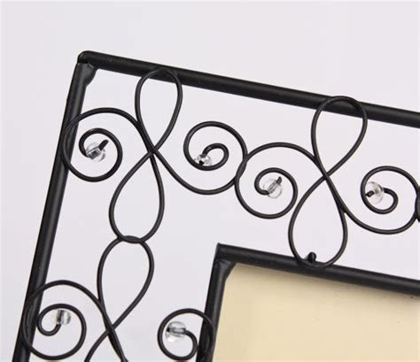 Black Metal Scroll Photo Frame   Placecards   Place Card