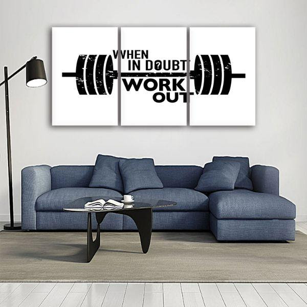 Inspiring Workout Quote 3 Panels Canvas Wall Art Canvasx Net