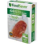 FoodSaver Pre-Cut Heat Seal Bags, Quart - 44 count