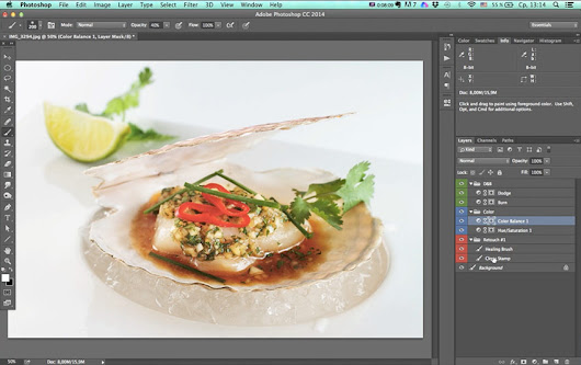 How to operate with layers in Photoshop