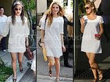 Style Verdict: White Lacy Mini Dresses