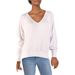 We The Free Womens Santa Clara Patterned V Neck Thermal Top White