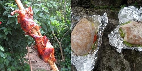 Chicken and Sandwiches at Balinsasayao