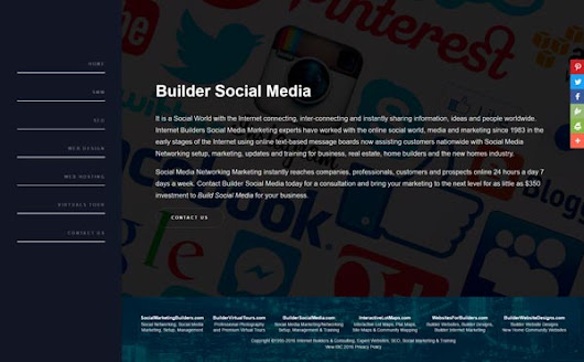 Builder Social Media Expert Social Media Social Networking Marketing Blog Setup, Management, Consulting, Training Internet Marketing Search Engine Optimization for Builders, New Homes, Real Estate & Business by Internet Builders