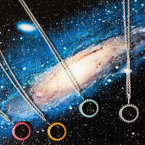 Constellations Paper and Resin Jewelry from Dittany Rose
