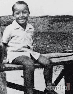 Roberto Carlos aos 6 anos.