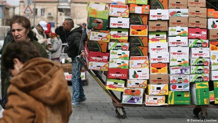 Vegetable market, West Jerusalem, Israel in April 2013 (Foto: Daniella Cheslow)