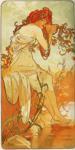 Alphonse Mucha.  Verão.  Da série Seasons.