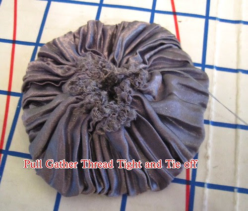 Making Flowers: Pull Gather Thread