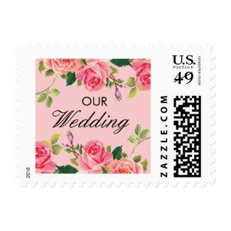 Vintage Roses Wedding Postage