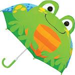 Stephen Joseph Kids Pop Up Umbrella - Frog - Umbrellas