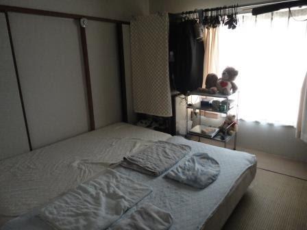 団地で快適生活 寝室の全体