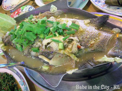 JT - Steamed Fish With Lime Sauce (RM33)