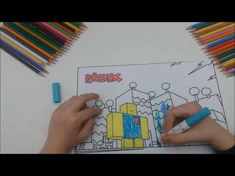 Noob From Roblox Coloring Pages Printable - Free Roblox ...