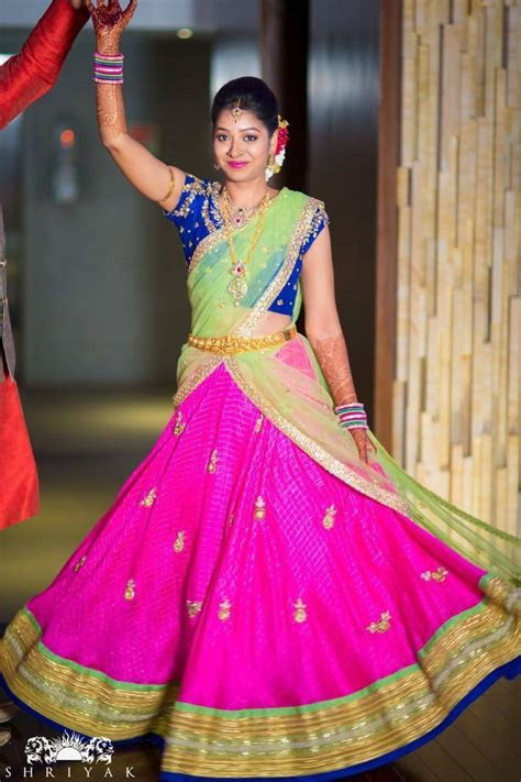 178 best images about HALF SAREE on Pinterest   Half saree