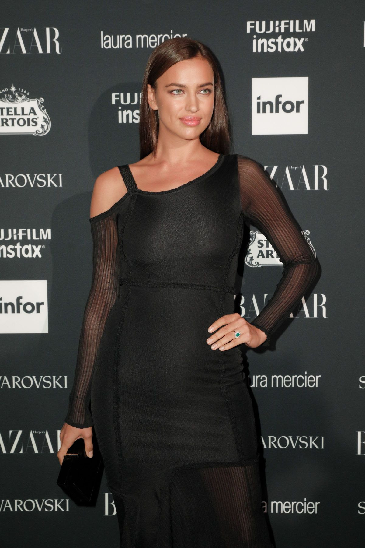 IRINA SHAYK at Harper's Bazaar Icons Party in New York 09/08/2017