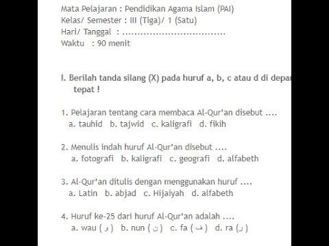 Soal Agama Islam Smp Kelas 9 Dan Kunci Jawaban