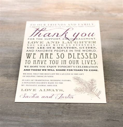 20 best images about Table Thank You Cards on Pinterest