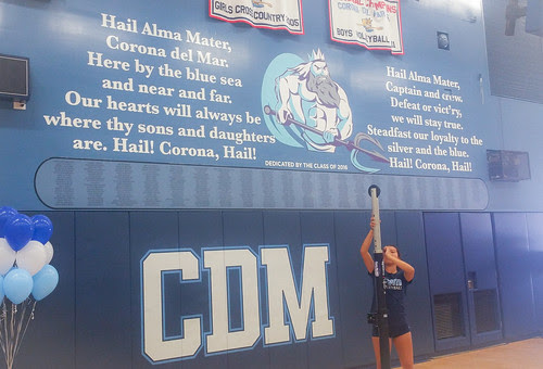 Recent work – gym graphics – Corona del Mar High School