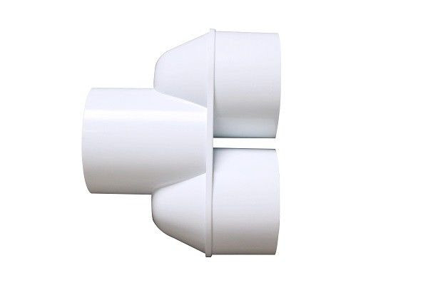White Spa Bubble Bath 3 Way Pvc Fittings Flexible 3 Way Pipe Fitting