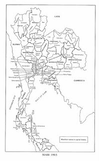 Map of Siam in 1915