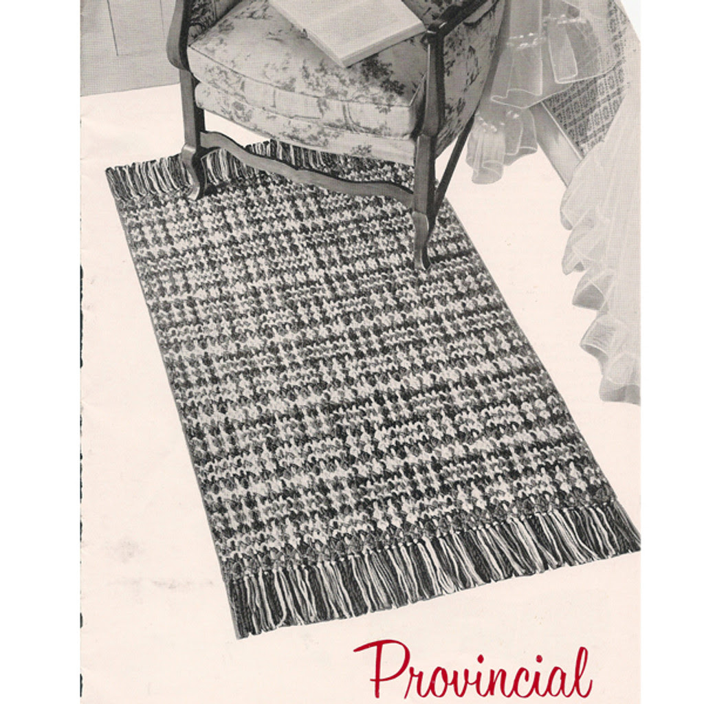 Provincial Crocheted Woven Rug Pattern