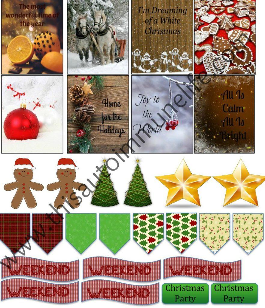Free December Planner Stickers