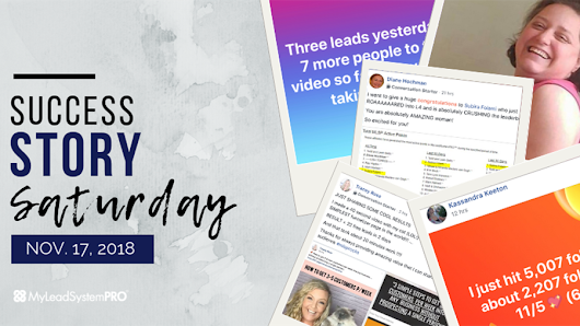 [Success Story Saturday] 40 Second Video = 22 Free Leads in 2 Days • My Lead System PRO (MLSP) Blog
