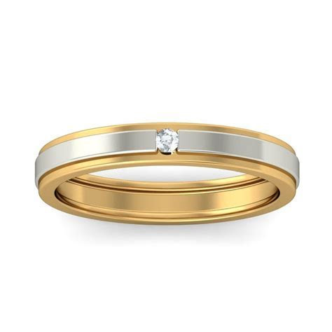 Affordable Round Diamond Wedding Band in Two Tone Gold