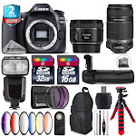Canon EOS 80D DSLR + 50mm 1.8 IS STM + 55-250mm IS + Pro Flash - 48GB Kit