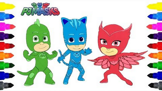 Coloring Pages Question Mark : Disney pj masks coloring pages for kids