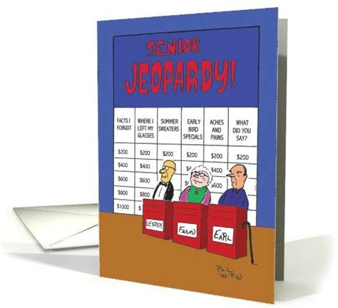 Senior Jeopardy Funny Birthday card (1090056)