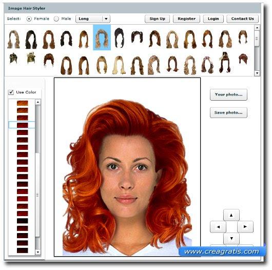 Sito per Provare Tagli di Capelli Online su una tua Foto CreaGratis - provare un taglio di capelli on line