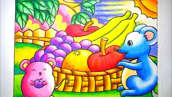 Download gratis Mewarnai Buah Dan Sayuran
