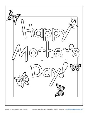 happy mother's day coloring page  children's bible activities  sunday school lessons for kids