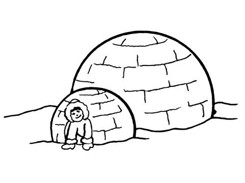 Dibujo De Iglú Inuit Para Colorear Dibujos Para Colorear Imprimir