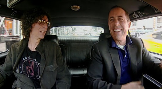 Howard Stern Rides in a Car and has Coffee with Jerry Seinfeld | SiriusBuzz