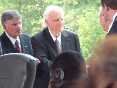 Billy Graham Arrives