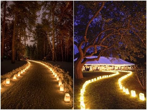 10 Outdoor Wedding Walkway Lighting Ideas