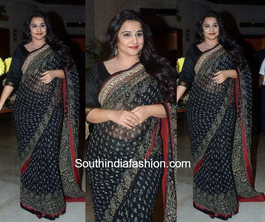 Vidya Balan's Saree Look