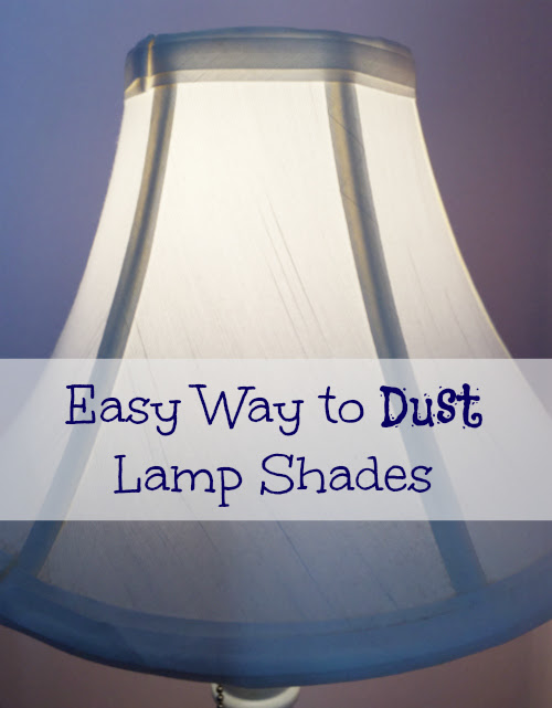 Cleaning Tip Tuesday: Easy Way to Dust Lamp Shades - The Organized Life