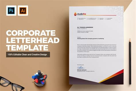 Creative Letterhead Template ~ Stationery Templates