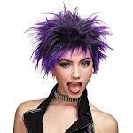 Purple Punk Rock Wig - Purple - One size fits most adults - Morris Costumes
